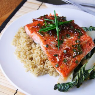 Cedar Plank Salmon with Burnt Orange Wasabi Glaze