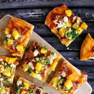 Mango, Bacon & Feta Pizza