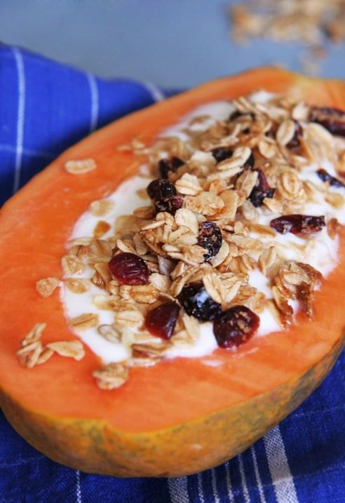 Papaya Boats with Yogurt and Granola 3