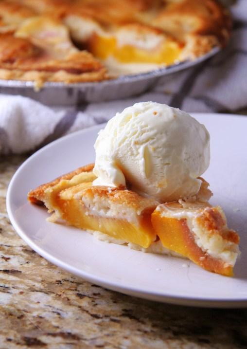 Quick & Dirty Peach Pie