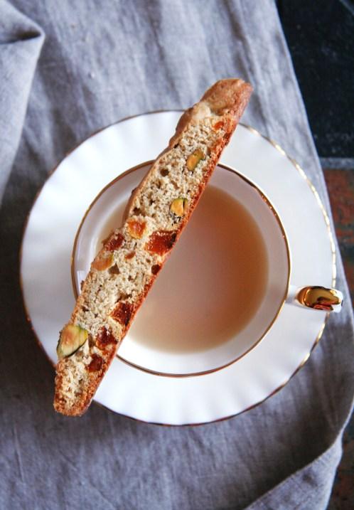 Apricot Pistachio Biscotti
