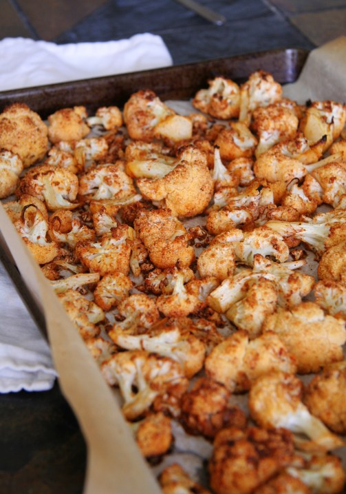 Oven-Caramelized Spiced Cauliflower Florets