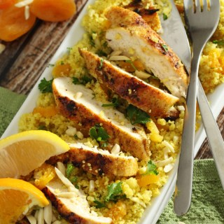 Moroccan-Inspired Apricot Couscous & Chicken Salad