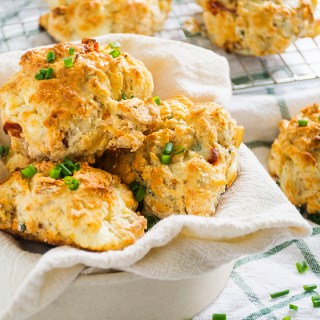 Sun-dried Tomato Goat Cheese Drop Biscuits