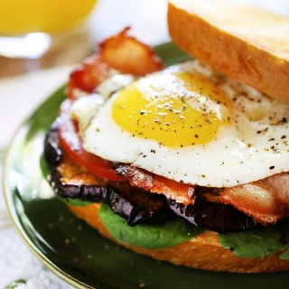 B.E.E.T Sandwiches (Bacon, Egg, Eggplant, Tomato)