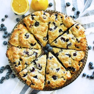 Lemon Blueberry Ricotta Scones