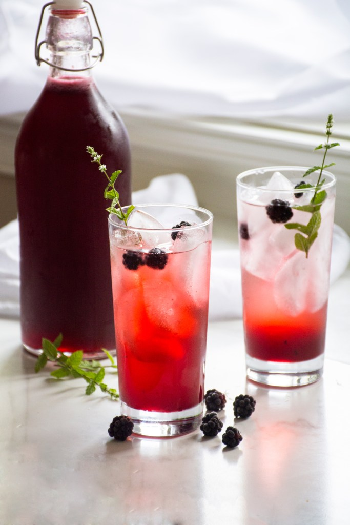 Cold-Process Blackberry Shrub