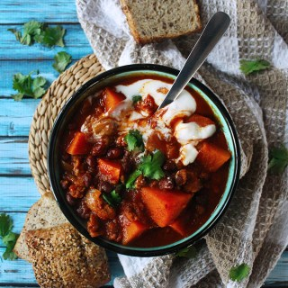 Sweet Potato & Chorizo Sausage Chili