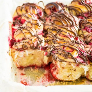 Chocolate Raspberry Sweet Rolls