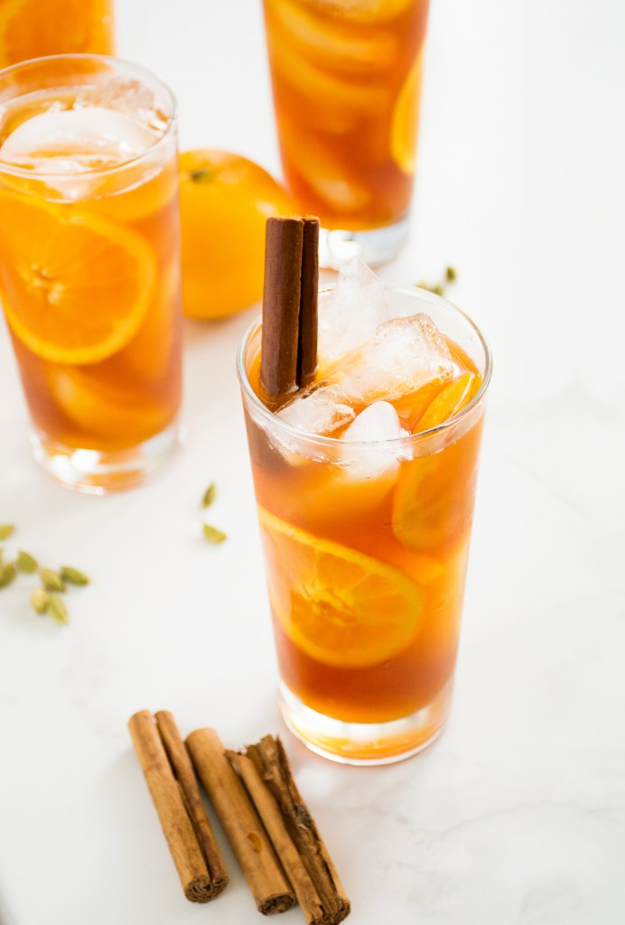 Orange Honey Spiced Iced Tea