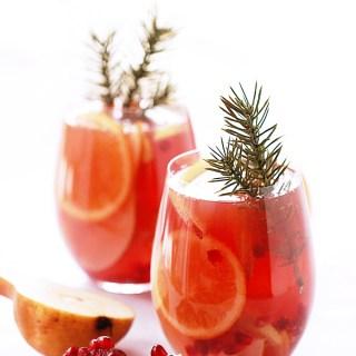 Winter-Spiced Pomegranate Sangria