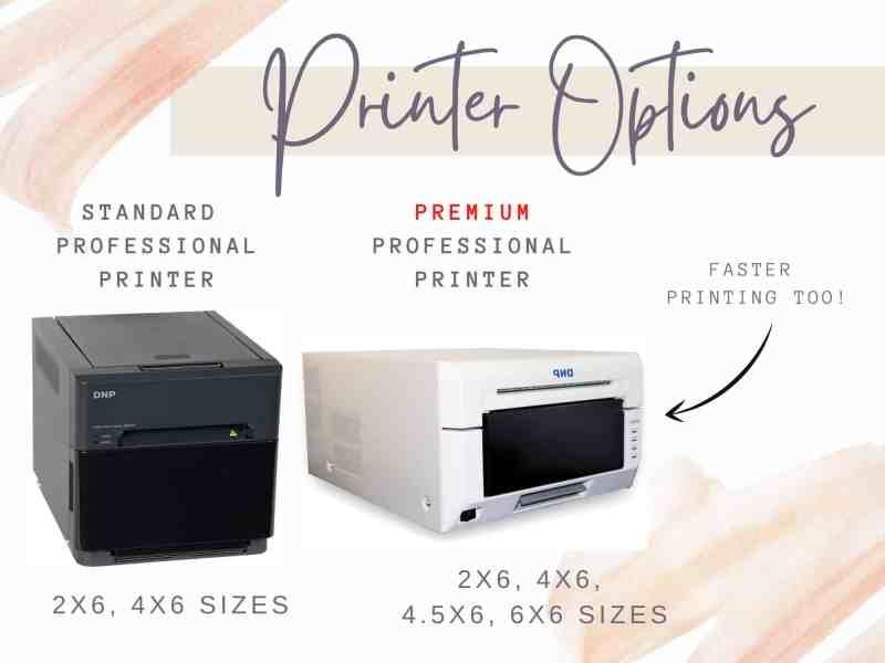 portapixie photo booth printing options