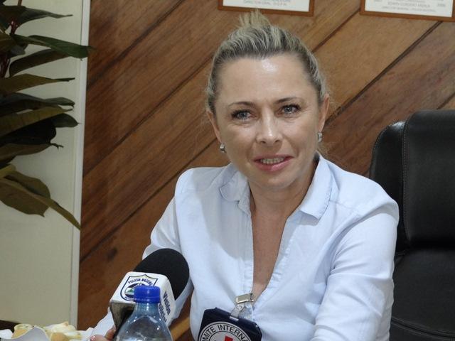 Laure Schneeberger. jefa de misión de la Cruz Roja Internacional en Nicaragua