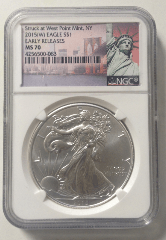 Slabbed american silver eagle 2015 port city coin New Hampshire