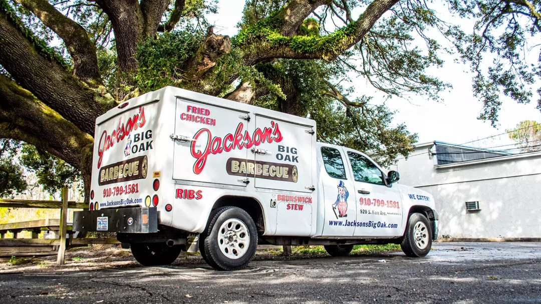 Jackson's Big Oak Barbecue truck with print and cut graphics