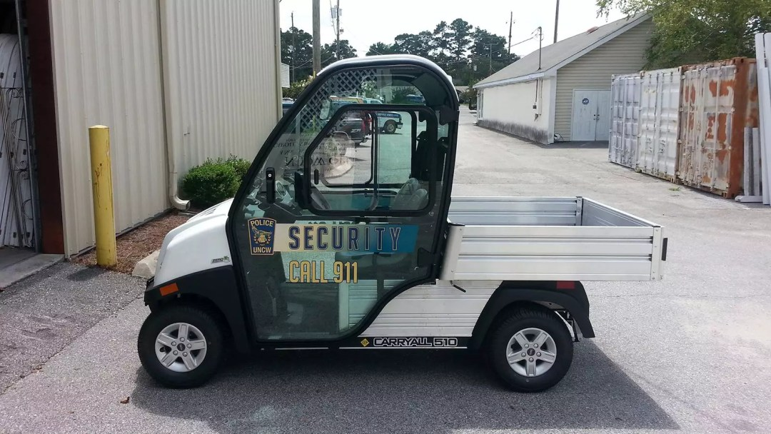 UNCW Security Vehicle with print & cut graphics