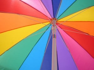 Rainbow Umbrella | Photo  by bandgeek0207 (CC BY-ND 3.0)