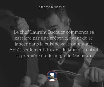 Bretonnerie succes story chef Laurent Bacquer