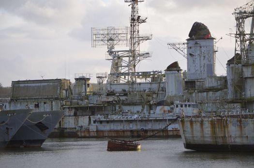 Cimetière des bateaux de Landévennec