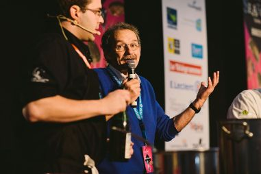 Speaker de la battle des chefs #Movember