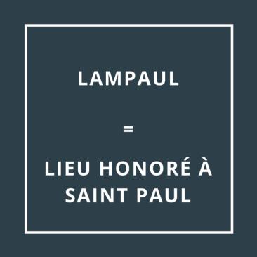 Lampaul = Lieu honoré à Saint-Paul