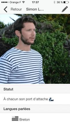 Notre Capitaine se prête au jeu de l'application bretonne Stag
