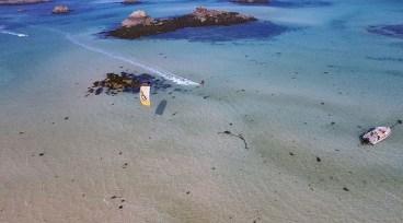 Kite surf breton vu du ciel