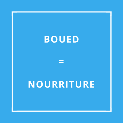 Traduction bretonne : BOUED = NOURRITURE