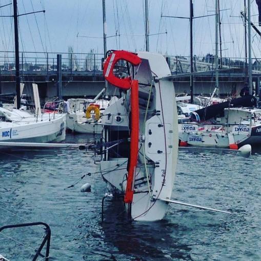 Pile poil, le bateau de Clarisse rentre de piste