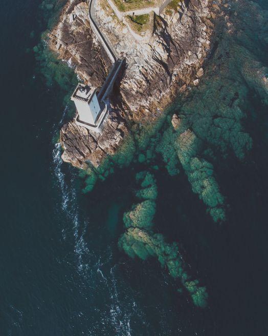 Le phare kermorvan vu du ciel