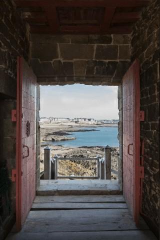 Saint-Malo (35) : le Fort du Petit Bé, petite vue