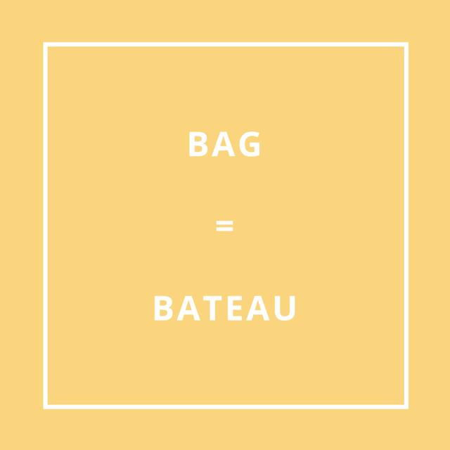 Traduction bretonne : BAG = BATEAU