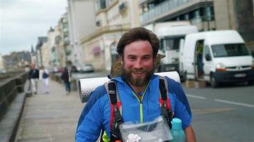 Arrivée deu BZH Tour de Julien Moreau à Saint-Malo
