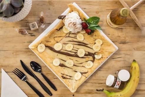 Crêpe froment banane chocolat 😋