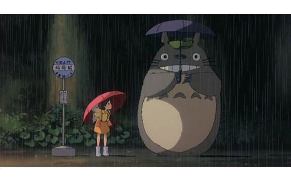Totoro sous la pluie