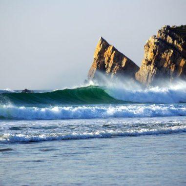 Déferlement des vagues