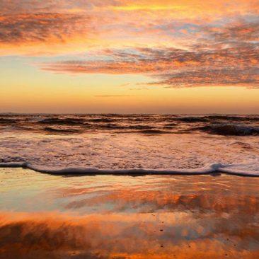 La plage du Loch aux couleurs de l'automne