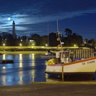 Le port de Sainte Marine au clair de Lune
