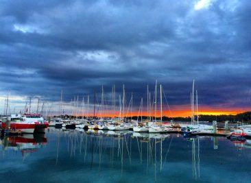 Les bateaux amarrés à la Base de Lorient
