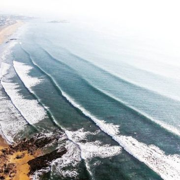 Vue aérienne de la plage de Penn er Malo