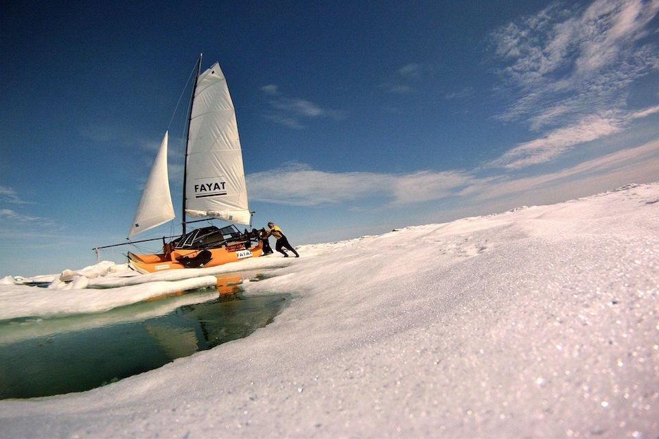 Traverser l'arctique en catamaran
