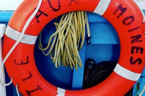 Île-aux-Moines bouée de sauvetage