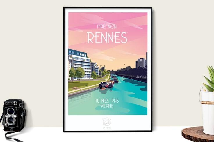 L'affiche La Loutre à l'effigie de Rennes