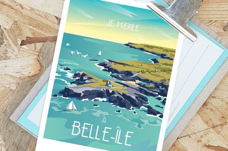 Affiche La Loutre Belle-Île