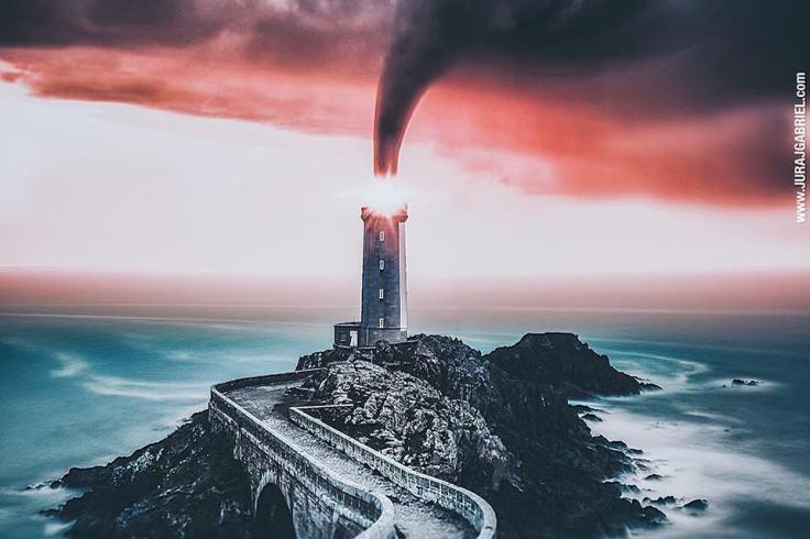 Sauron a pris place au Phare du Petit Minou !
