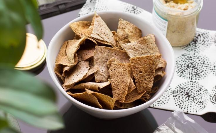 Les chips au sarrasin, un incontournable de l'apéro.