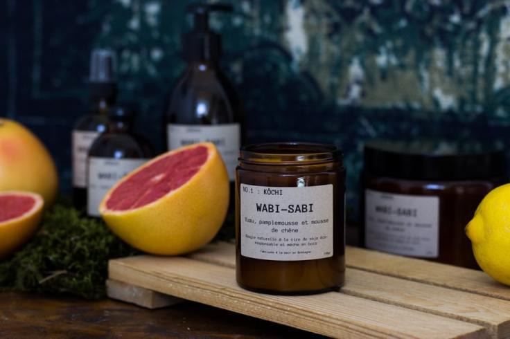Wabi-Sabi est une marque de bougies éco-responsables à la cire de soja coulées à la main