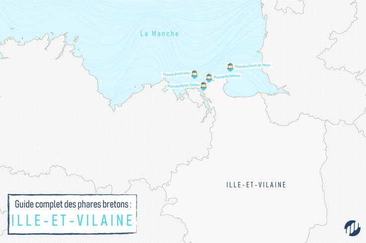 Carte des phares en Ille-et-Vilaine