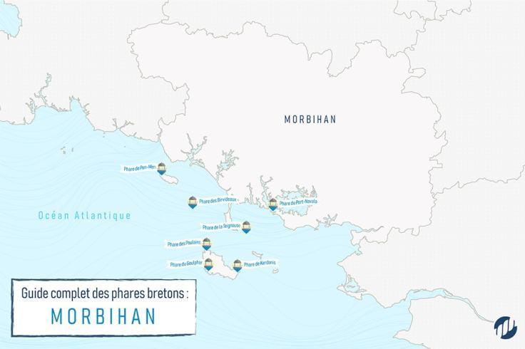 Carte des phares morbihannais