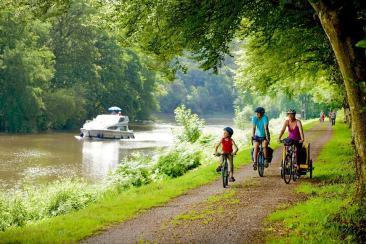 Parcourir la vélodysée à vélo ou en bateau